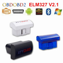 ELM 327 V2.1 Work On Android Torque/Symbian/PC ELM327 Bluetooth Interface OBD2/OBD II Auto Car Diagnostic Scanner ELM327 V2.1(China)