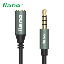 llano 3.5mm Headphone Extension Cable Male to Female Stereo Audio Cable Converter for Earphone Cellphone pad PC Car Louder(China)