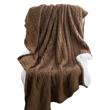 Brown Double Face Knited Thread Blankets Towel Blankets 120x180cm Summer Blankets Throw Plaids Artificial Cashmere Polyester(China)