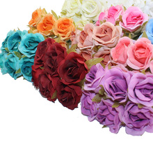 3CM  60PCS/lot Artificial Flowers Cloth Rose Heads  DIY Beginning Decorative Wedding Party Wholesale Handmade Flowers