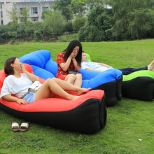 camping lazy bag inflatable air sofa double pocket laybag sleeping bag adult beds air lounge Fast Inflatable lounger mattress