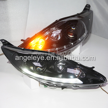 for  FORD Fiesta LED Strip Headlights Head lamp Front light with  Projector Lens 2009-2012 Year SN V2