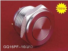 16mm super FLAT stainless steel pin terminal Metal push button switch (GQ16PF-10/J/S)(China)
