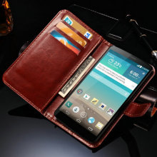 LG3 Hot Luxury Stand PU Leather Case For LG Optimus G3 Cover Book Style With Card Slot Black Brown Cases G 3 For LG3
