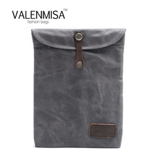 VALENMISA Luxury Waterproof Canvas Case For Ipad 2 3 4 Retro Briefcase Hand Belt Holder Stand Bags Cover For Ipad2 Ipad3 Ipad4(China)