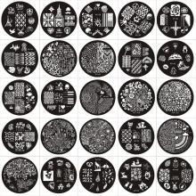 Buy 60pcs/Lot Fashion Designs DIY Polish Beauty Nail Art Image Stamp Stamping Plates 3D Nail Art Templates Stencils Manicure Tools for $26.00 in AliExpress store