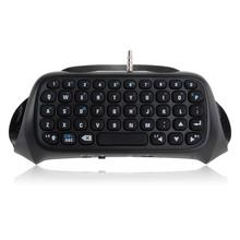 For PS4 Bluetooth Keyboard Mini Wireless Keyboard Chatpad Message Keyboard for PS4 Playstation 4 Controller