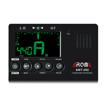 Aroma AMT-560 Metronome Tuner Tone Generator Chromatic Tuner for Guitar Bass Violin Ukulele Foldable Metal Holder Big Screen