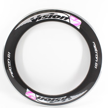 1Pcs New pink 700C 80mm clincher rim Road bike 3K carbon fibre bicycle wheels rims with aluminum alloy brake surface Free ship(China)