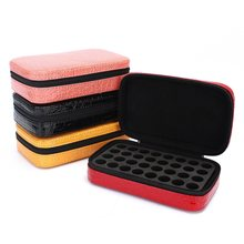 32 Bottles Essential Oils Carrying Case 2ml Pouch Beautiful Portable Custom Hard Case Traveling Sturdy Double Zipper(China)