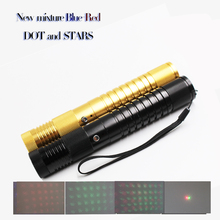 New promotion Mixture Green 50mw Red 100mw two colour in one laser body  Laser pointer with stars guiding stage lighting