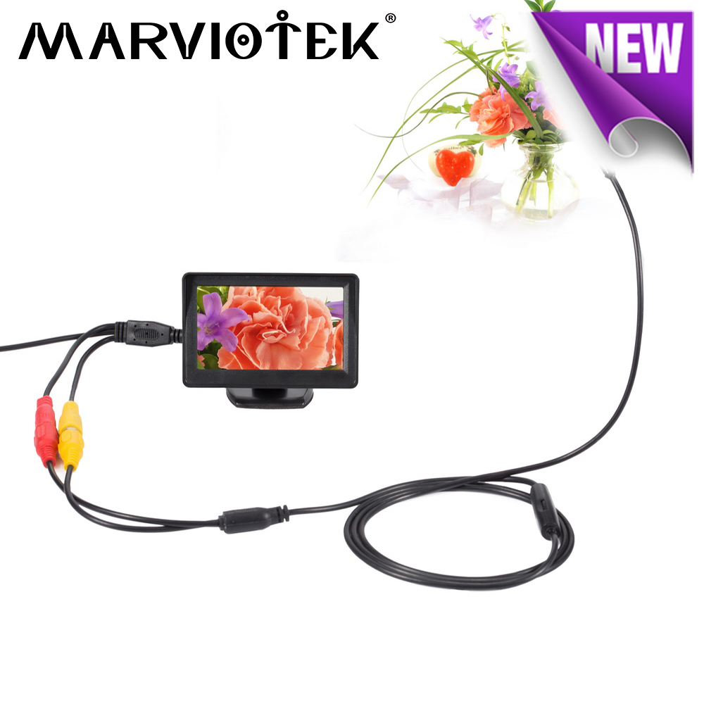 AV 5V 10mm dia IP66 Waterproof car Endoscope with 4.3 inch TFT Color Monitor 1m/5m/10m/15m/20m Length endoscope security Camera <br>