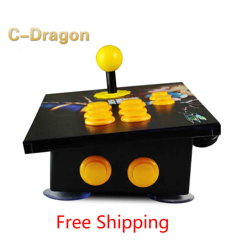 Cdragon arcade stick USB rocker arcade joystick KOF Street Fighter three and PC  computer game handle inclined free shipping<br><br>Aliexpress