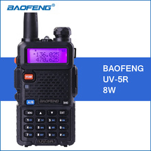 BAOFENG UV-5R Walkie Talkie 8W UHF VHF Dual Band 1800mah UV5R Portable Baofeng Walkie Talkie 5R Two Way CB Ham Radio Communitor(China)