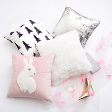 New Fashion decorative pillows creative Cotton Cartoon rabbit super soft throw pillows princess room cushions home decor