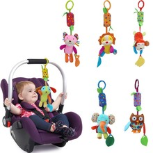 6 Style Baby Toys Infant Stroller Bed Hanging Early Learning Plush Animal Rings Baby Rattles Mobiles Rings Bells Newborn Toys(China)