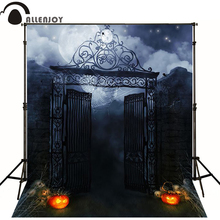 Allenjoy Halloween backdrop photo background horrible pumpkins moon night photography studio backgrounds(China)