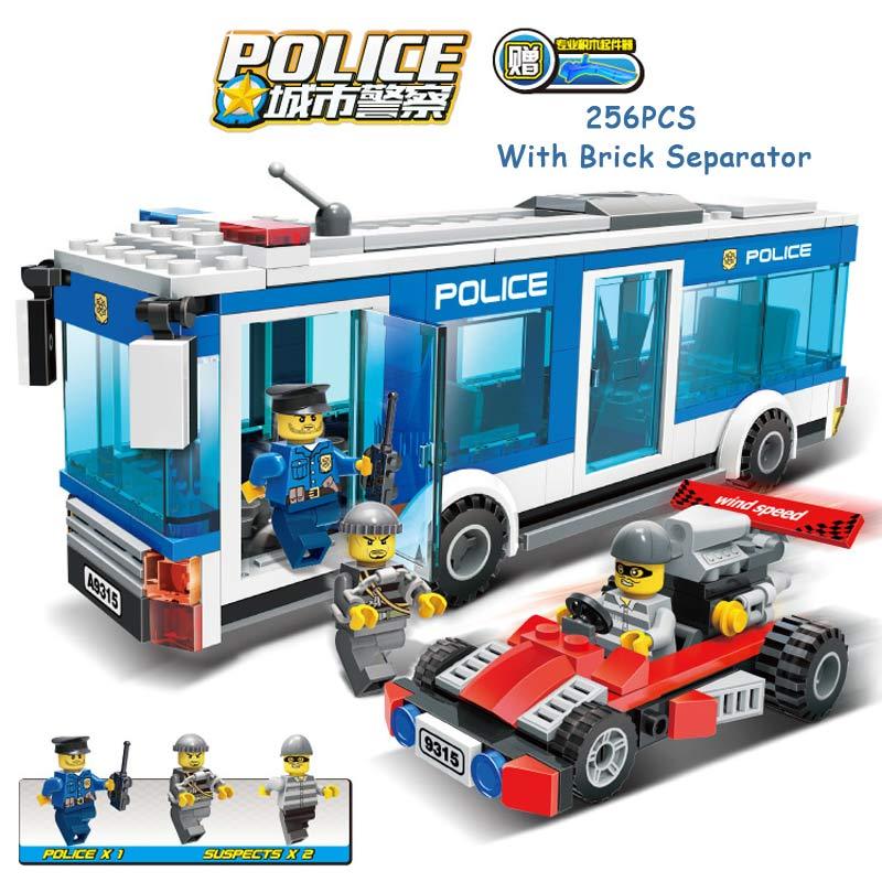 256PCS City Police Policeman Intercept Bandit Robber Figures Building Blocks Police Bus Model Educational Toys For Kids Gift<br><br>Aliexpress