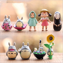 Anime Movie My Neighbor totoro  fairy garden miniatures mini gnomes moss terrariums resin crafts figurines for garden decoration