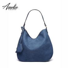 AMELIE GALANTI 2017 women shoulder bag women famous design handbags brand women casual fashion half moon bag hand bags 4 colors