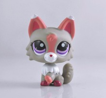Littlest Pet Wolf Dog Collection Child Girl Boy Figure Toy Loose LP05(China)