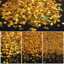 ELESSICAL 10g Golden Holographic Lasers Nail Glitter Acrylic Powder Dust Hexagon Nail Art Decorations Manicure Tools WY780-WY783(China)