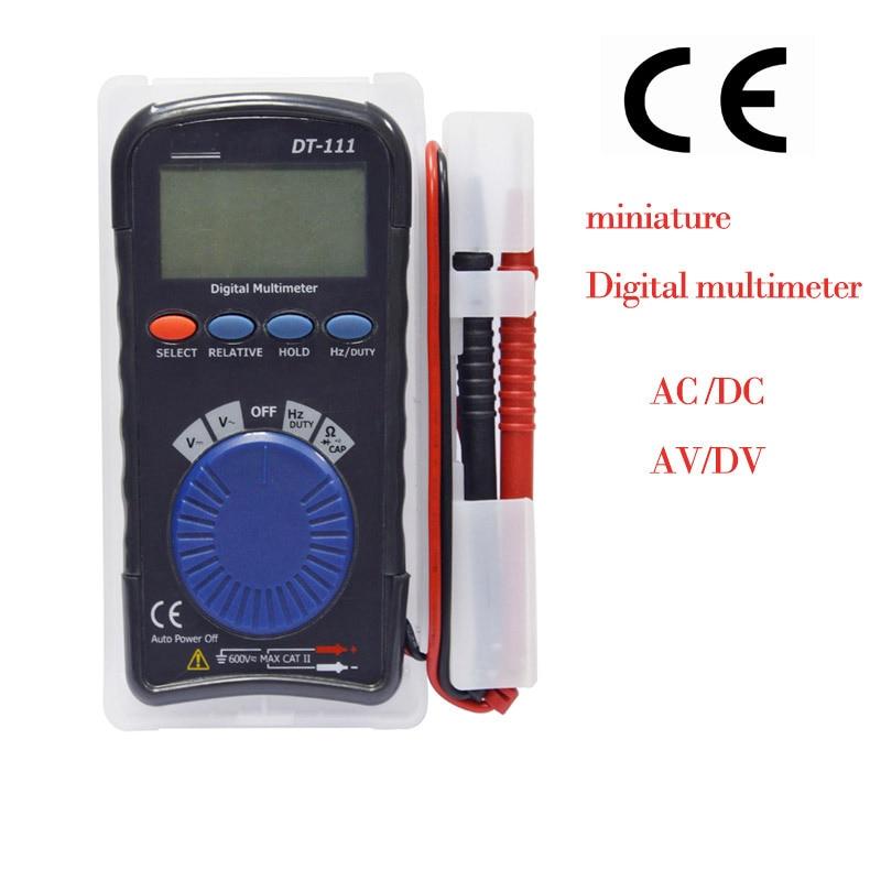 pocket digital multimeter Current voltage resistance capacitance test <br>