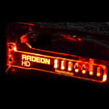 Red Radeon HD Cool LED Luminous Computer Office Main Box HIS-K6 Graphics Cards Custom Support Frame Display Card Components Jack
