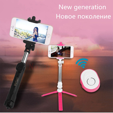 2018 New generation Bluetooth Remote Universal Selfie Stick Mini Monopod Tripod Palo Extendable selfie stick For iphone 6S 7 8 X(China)