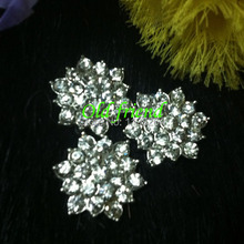 18mm Rhinestone Alloy Metal Button For Hair Accesory , Clothing 60pcs/lot Free shipping(China)