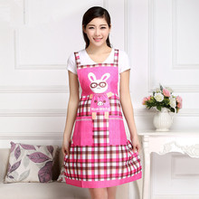 2017 New aprons for woman korean apron waiter chef cleaning cooking using korean clothing shop tablier cuisine cute rabbit