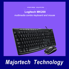 Logitech MK200 Wired Keyboard Mouse Gaming Laptop PC Gamer Genuine Waterproof Mute Ergonomics Optical Keyboard and Mouse Combo(China)