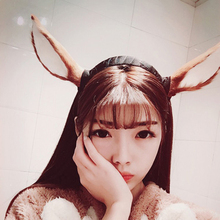 women headband with deer ears for christmas decorations festive party supplies fashion girls headbands for women gift(China)