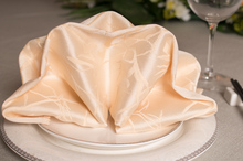 10pcs/lot High-grade high-quality Beige hotel branch printed cloth napkins folded cloth napkin 48*48cm