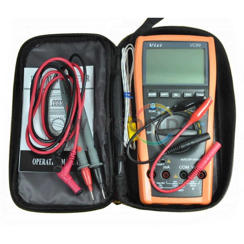 M002 VC99+ 3 6/7 6000 count auto range digital Multimeter DMM AC DC Voltmeter Capacitance Resistance<br>