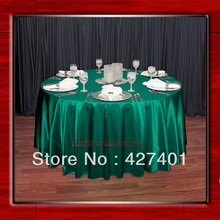 "Hot Sale Green 54"" round shaped poly satin table cloth/Tablecloths/Table overlay for wedding party decorating"
