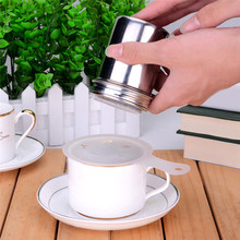 1 pc  New Arrival Stainless Chocolate Shaker Cocoa Flour Icing Sugar Powder Coffee Sifter Lid Kitchen Cooking Tools  Hot Sale
