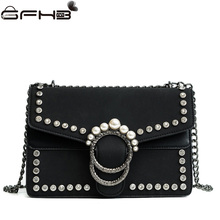 Luxury Designer Women Handbags Leather Crossbody Bags Famous Brands Michael Handbag Fashion Diamonds Pearl Bag Sac A Main Femme(China)