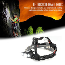 Headlamp Fishing Camping Waterproof Size Adjustable 3 LED Bicycle Headlights Lights Miner Ride Night Fishing Lamp Head TorchLamp
