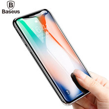 Buy Baseus Screen Protector Tempered Glass iPhone X Ultra Thin Anti Blue Light Full Screen Front Cover iPhone X Glass Film for $4.99 in AliExpress store