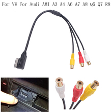 35CM Car AMI MDI MMI AUX Cable USB RCA DVD Video Audio Input AUX Cable Wire For VW For Audi AMI A3 A4 A6 A7 A8 Q5 Q7 R8 /40(China)