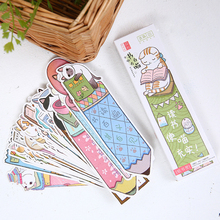30 Pcs/pack Cat in Book Bookmark Paper Cartoon Animals Bookmark Promotional Gift Stationery Film Bookmark free shipping