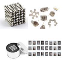 2017 HOT toy 216pcs 5mm Silver Magic Magnet Magnetic DIY Balls Sphere Neodymium Cube Puzzle toy Birthday Children's day gift