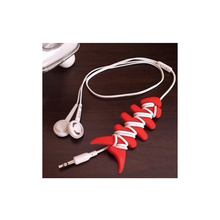10PCS New Colorful Fish Bone Silicone Auto Cable Cord Wire Organizer Bobbin Winder Smart Wrap For Earphone Mouse Cable
