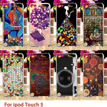 Soft TPU Cases For Apple iPod Touch 5 5th 5G touch5 Case Cold Painted Hard Cell Phone Cover Housings Bags Sheath Skins Hoods