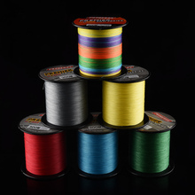 PROBEROS 300M Multifilament Fishing Lines Fluorocarbon PE Braid 4 Stands Angling Accessories Fishing Rope Cord 6 Color 6LB-100LB(China)
