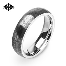 Black Stainless steel Personalized Customization Engraved Ring  For Men Jewelry