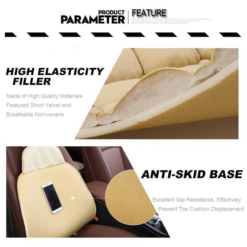 For KIA RIO Cerato Sportage QL Car Seat Cover Universal Auto Winter Soft Warm Seats Cushion Cars Chair Covers Protector General (5)