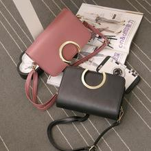 Woman Bags 2017 European and American Fashion Style Women Imitation leather Shoulder Bag Satchel Handbag Retro Messenger Bags(China)