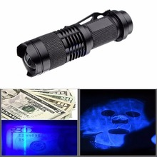 Led UV Flashlight Torch Light SK68 Zoomable 3 Modes Mini Ultra Violet Lantern torch 600LM Adjustable Focus tactical flashlight